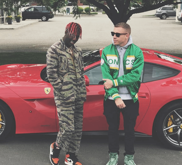 "Lil Yachty in the Air Jordan 1 ""Shattered Backboard"" & Macklemore in his Air Jordan 6 PE"