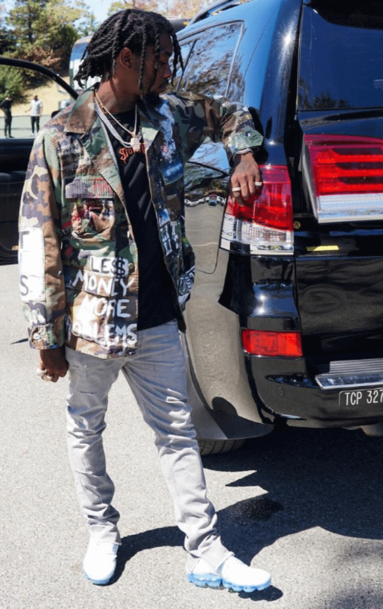 Offset in the Nike Air VaporMax
