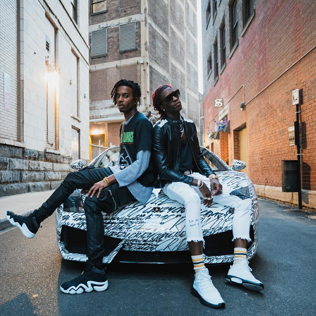 Playboi Carti in the adidas Crazy 8 ADV & Young Thug in the adidas Crazy 1 ADV