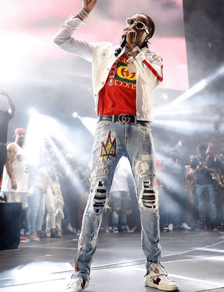 Quavo in Gucci sneakers
