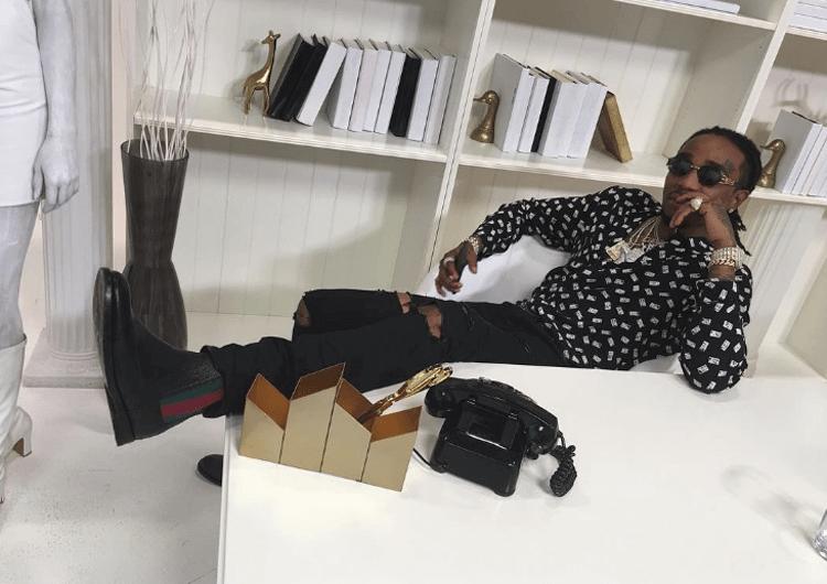 Quavo in Gucci boots