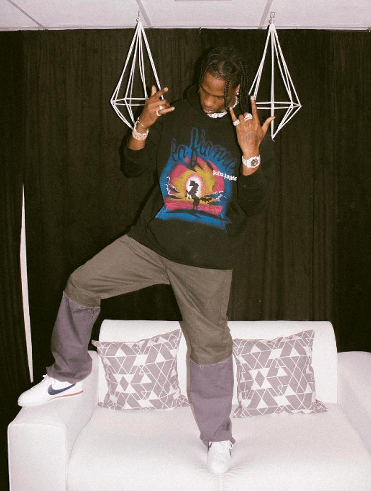 Travis Scott in the Nike Cortez
