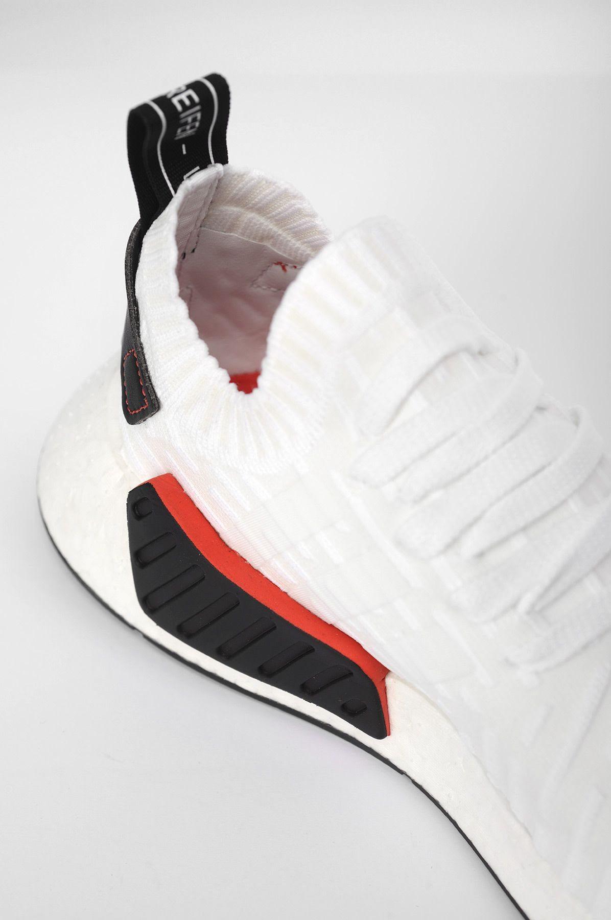 Adidas Nmd R2 Primeknit White Black Available Now Nice Kicks