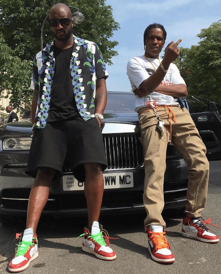 Virgil Abloh & A$AP Rocky in the Off-White x Air Jordan 1