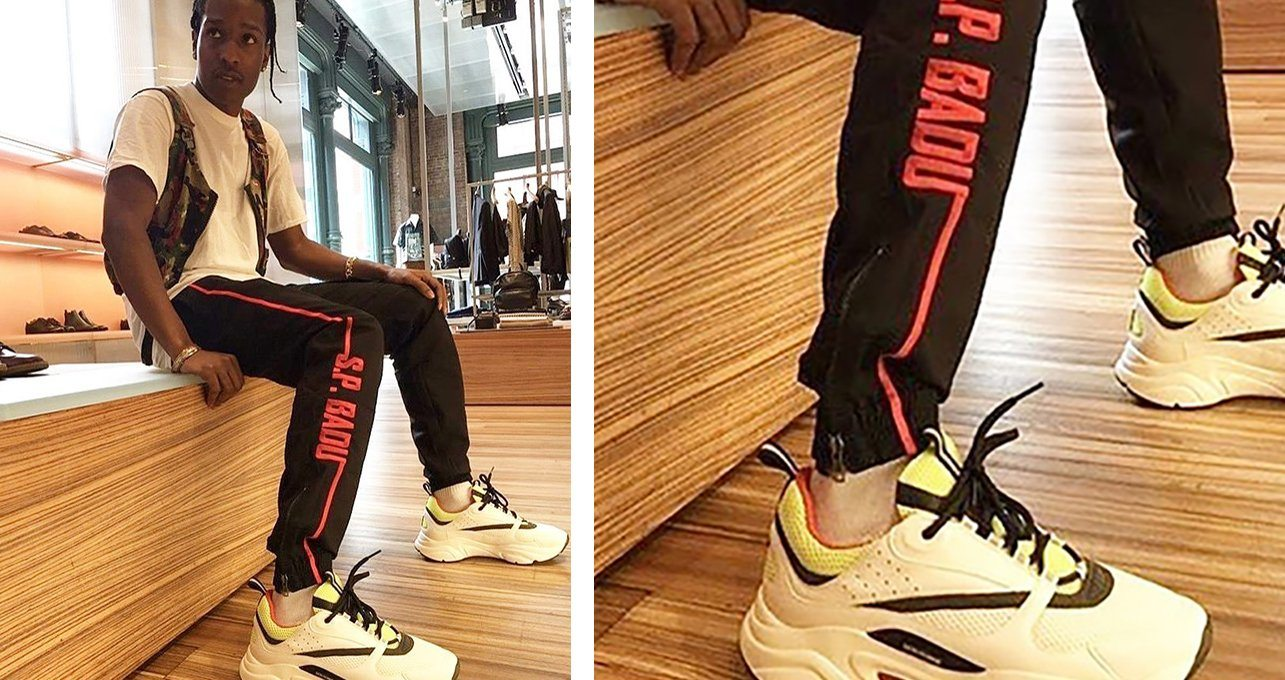 Asap Rocky in the Dior Sneakers