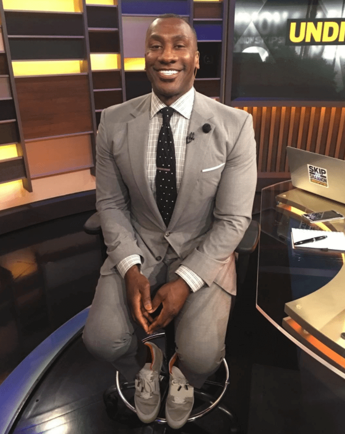 """Shannon Sharpe in the Nike Air Yeezy 2 """"Pure Platinum"""""""