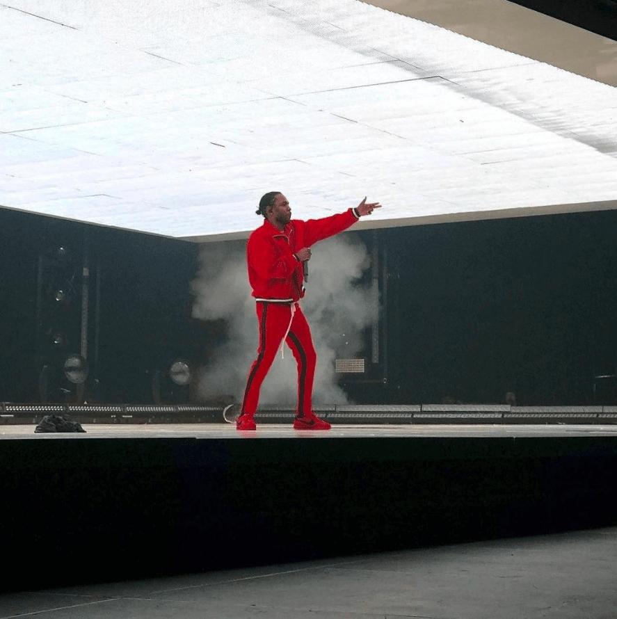 Kendrick Lamar in the Nike Cortez