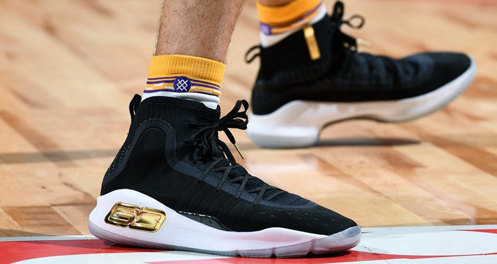 Lonzo Ball wearing the Under Armour Curry 4 PE