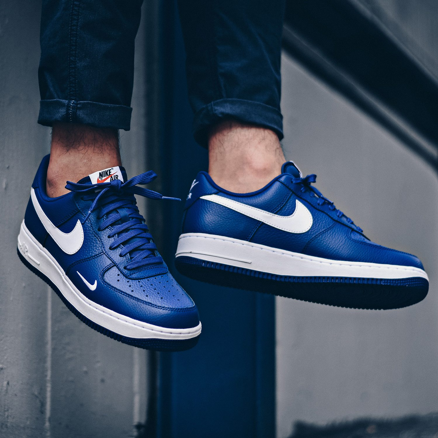 Air Force 1 Mini Swoosh Deep Royal Blue Available Now