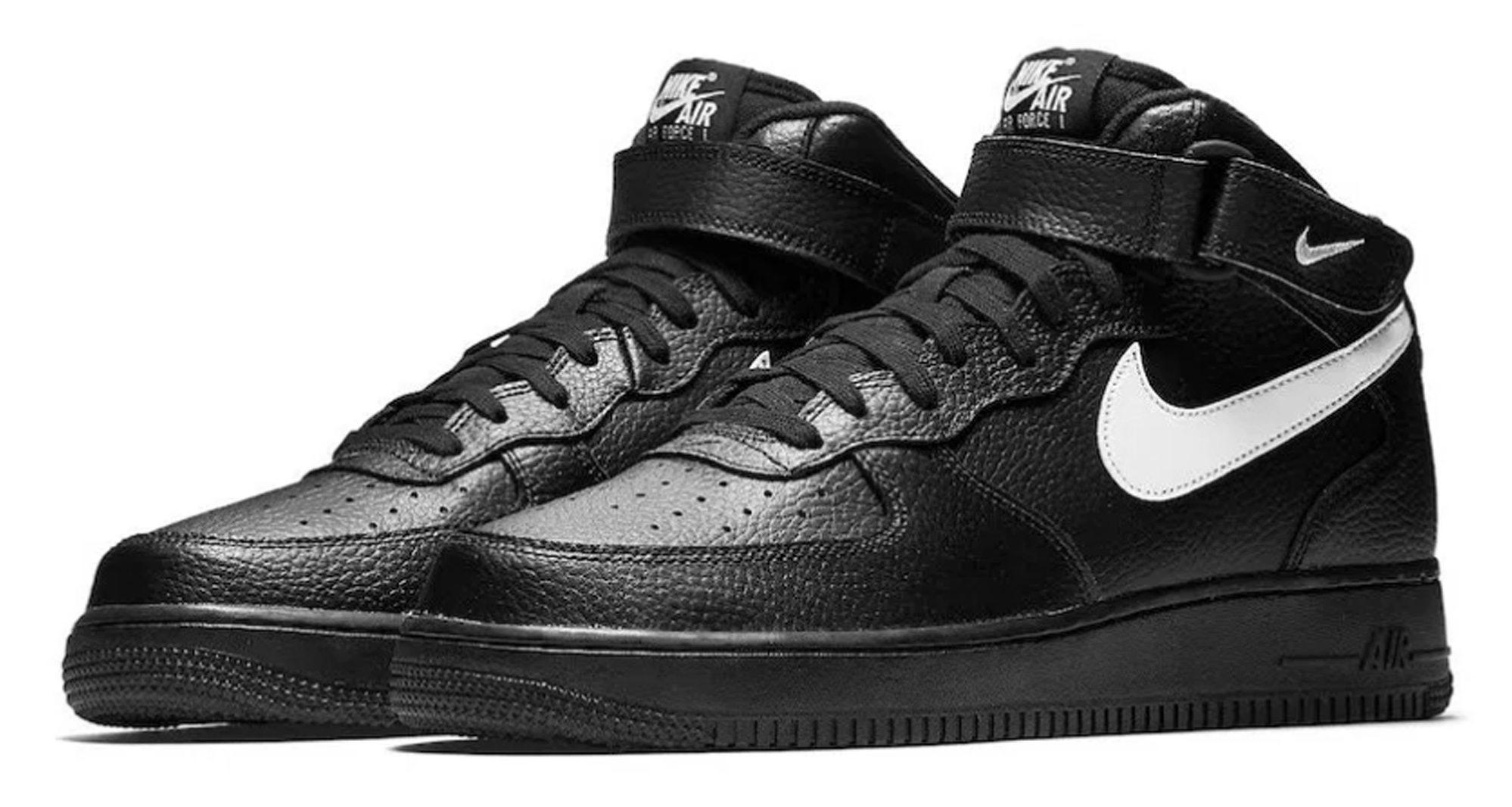 Nike Air Force 1 Mid Black/Sail
