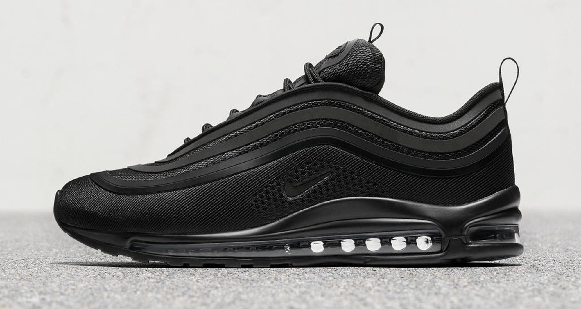 nike air max 97 ultra triple black release date. Black Bedroom Furniture Sets. Home Design Ideas