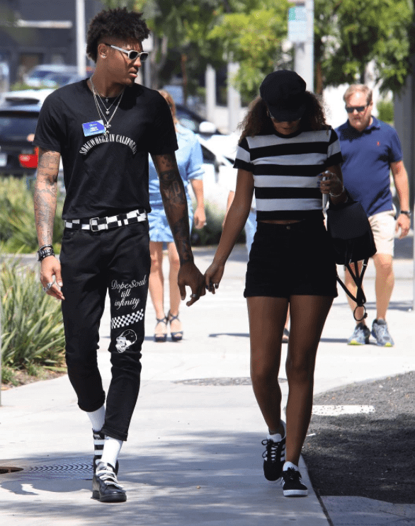 Kelly Oubre Jr. in the Raf Simons x adidas Stand Smith