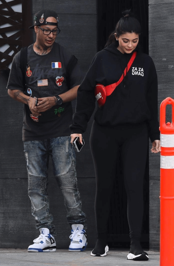 Kylie Jenner in the Balenciaga Sneakers