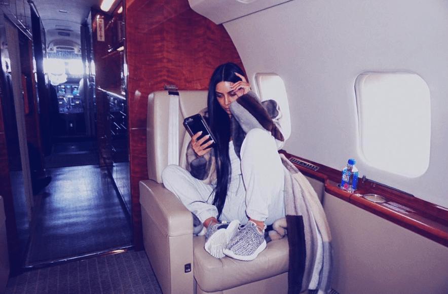 "Kim Kardashian in the Yeezy BOOST 350 ""Turtle Dove"""