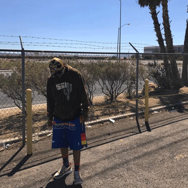 Chase B in the Tom Sachs x Nike Mars Yard 2.0