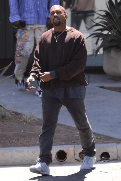 Kanye West in the adidas Yeezy Powerphase