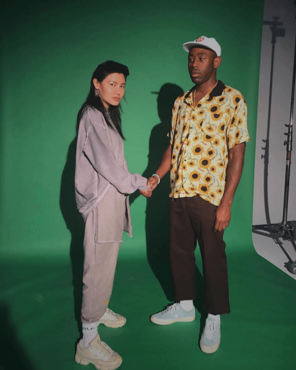 Tyler the Creator in the Converse One Star X Golf Wang Le Fleur
