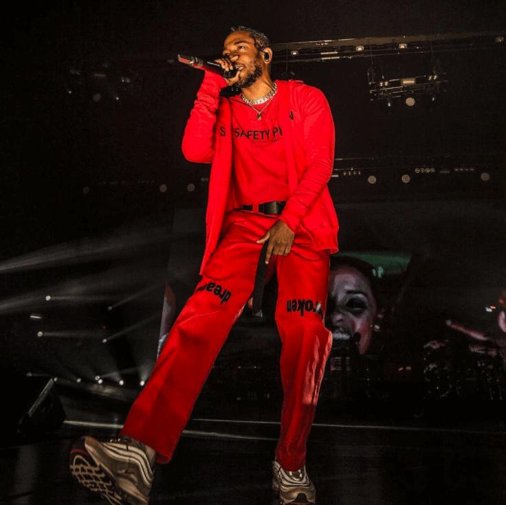 Kendrick Lamar in the Nike Air Max 97