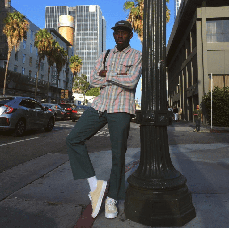 Tyler the Creator in the Foot Patrol x Converse One Star