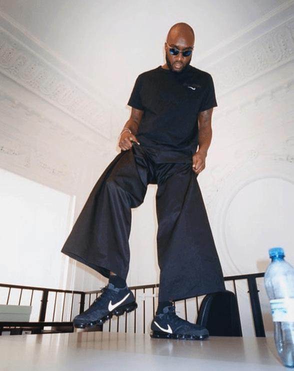 Virgil Abloh in the Nike Air Vapormax