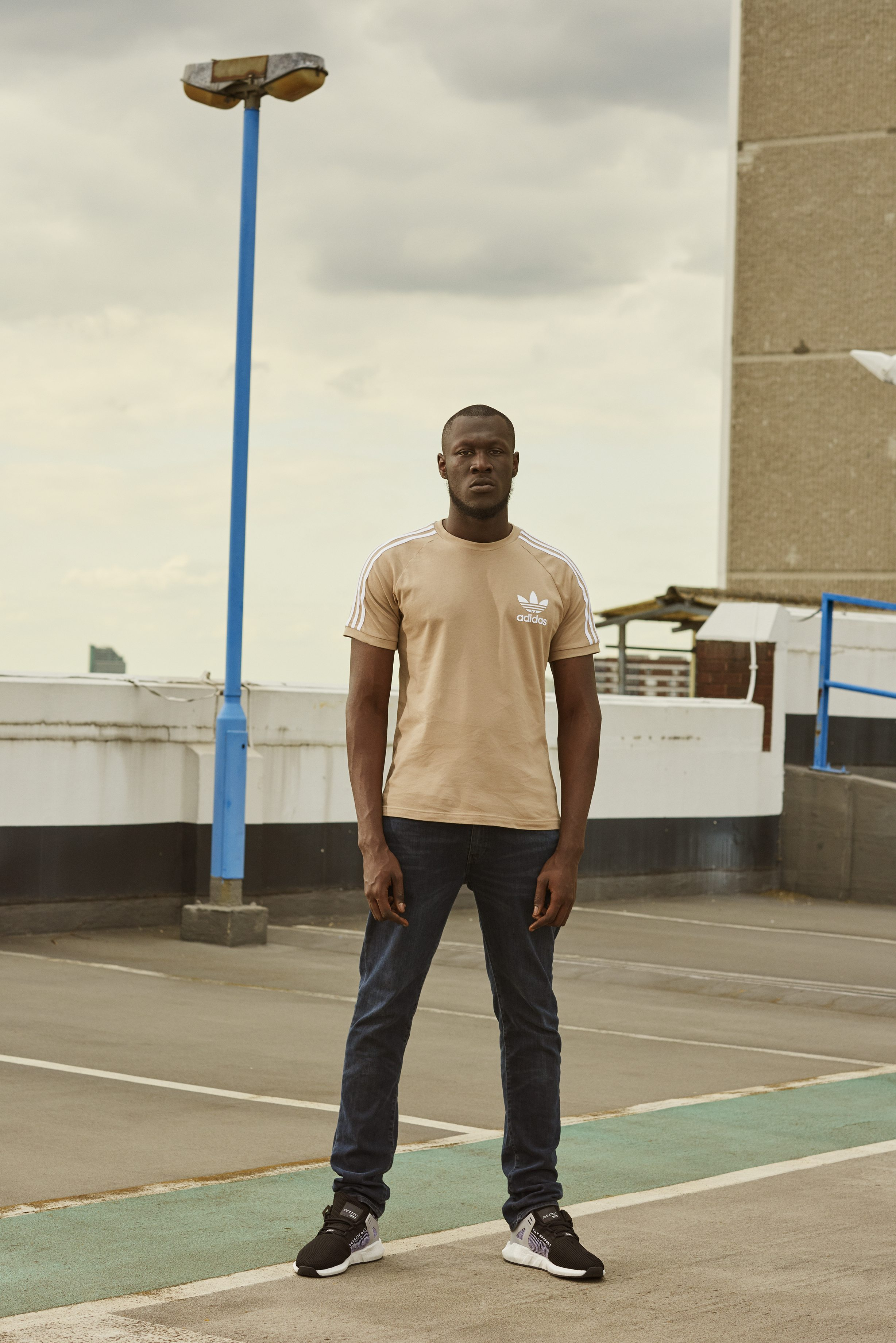 Stormzy in the adidas EQT Support 93/17