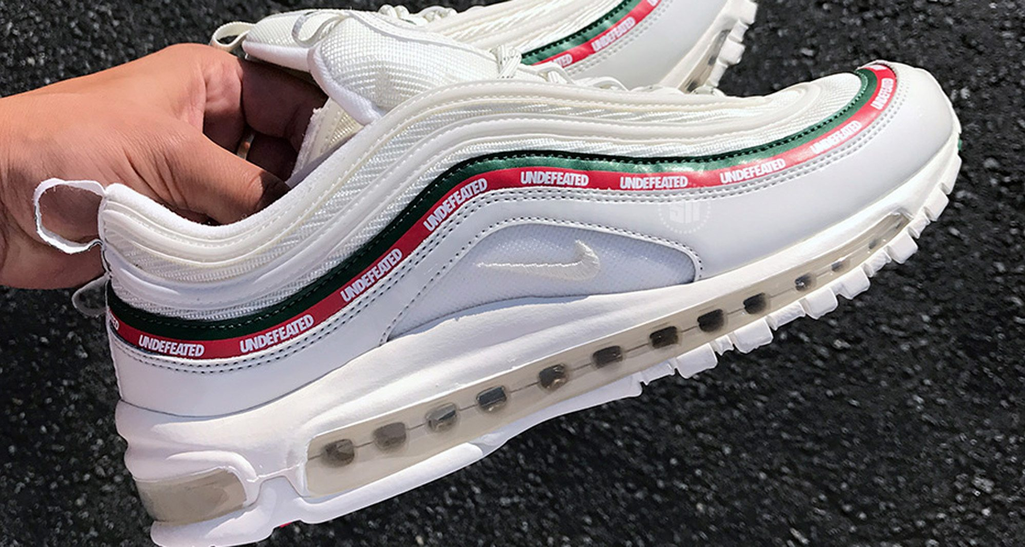undftd x nike air max 97 white closer look nice kicks. Black Bedroom Furniture Sets. Home Design Ideas