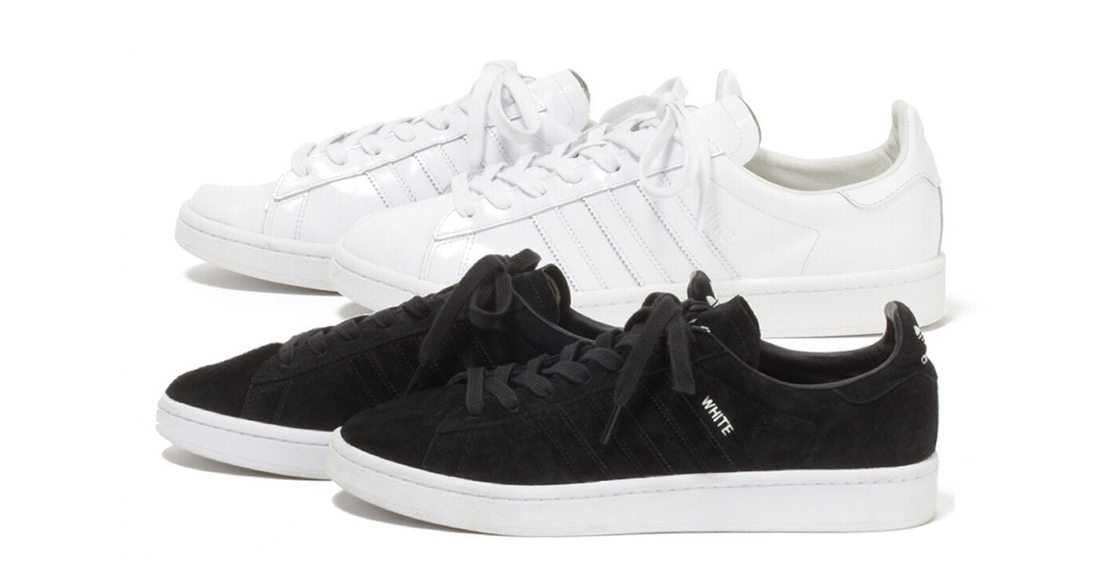 """White Mountaineering x adidas Campus 80s """"Monochrome"""" Pack"""