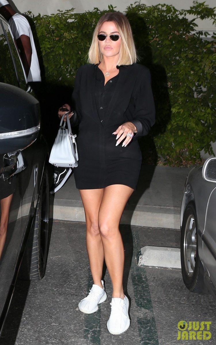 "Kourtney Kardashian in the adidas Yeezy Boost 350 V2 ""Cream"""