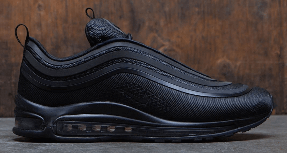 nike air max 97 ultra triple black available now. Black Bedroom Furniture Sets. Home Design Ideas
