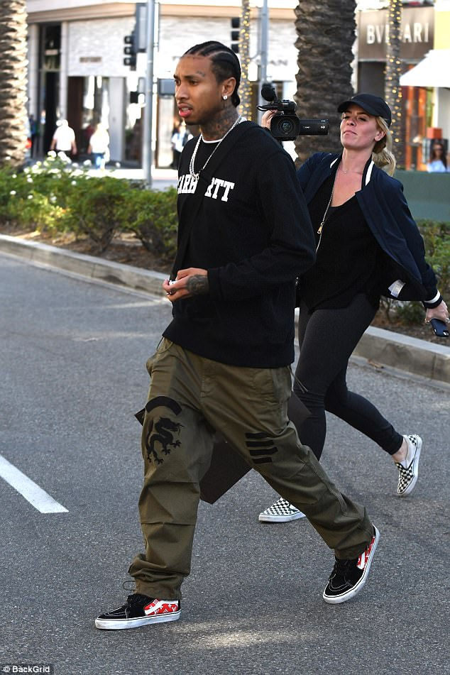 Tyga in the Vans SK8 Hi