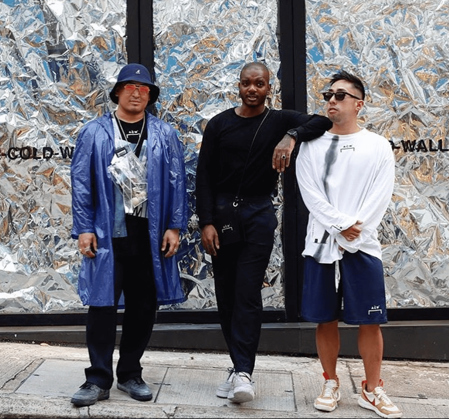 Kevin Poon in the Nike Mars Yard & Ace Harper & Samuel Moss in the ACW x Nike Air Force 1