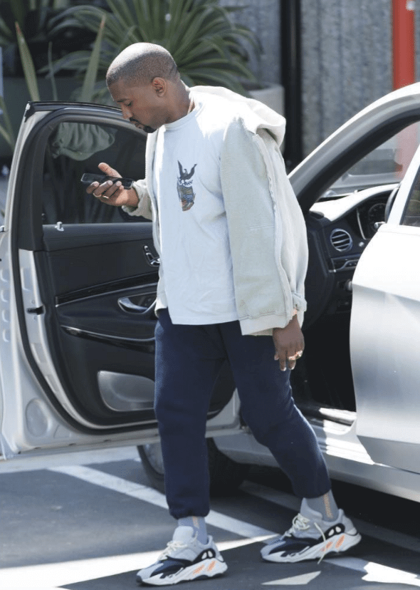Kanye West in the Yeezy Wave Runner