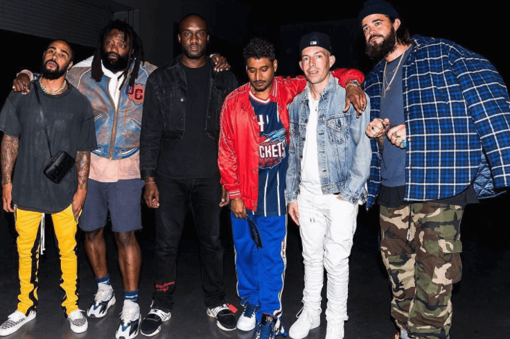 """Jerry Lorenzo in the FOG x Vans Era & Tremaine Emory in the Yeezy Wave Runner & Virgil Abloh in the The Ten """"Nike Air Presto"""" & Don C in the Nike Air Max 180 & John Elliot in the John Elliot x Nike Vandal"""