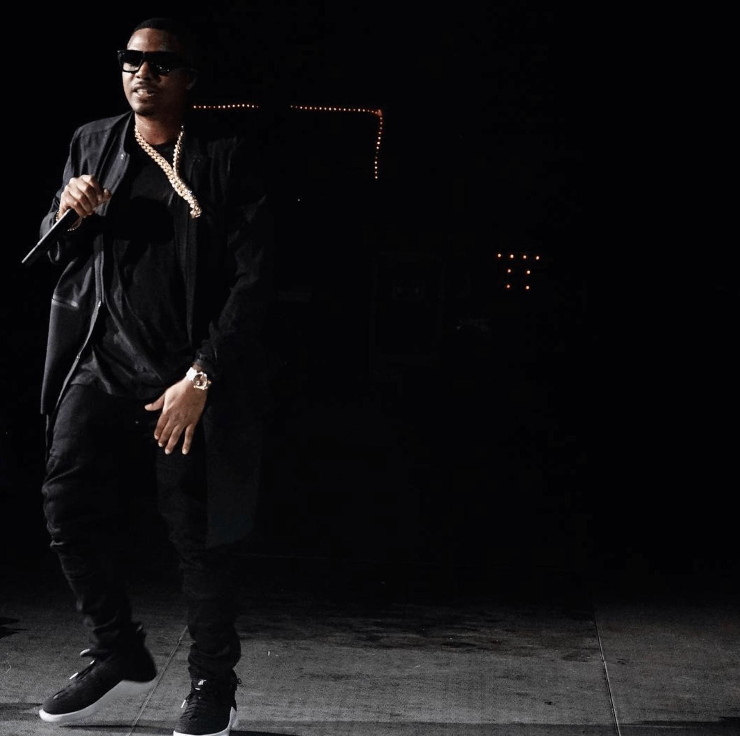 Nas in the PSNY x Air Jordan 15 Retro