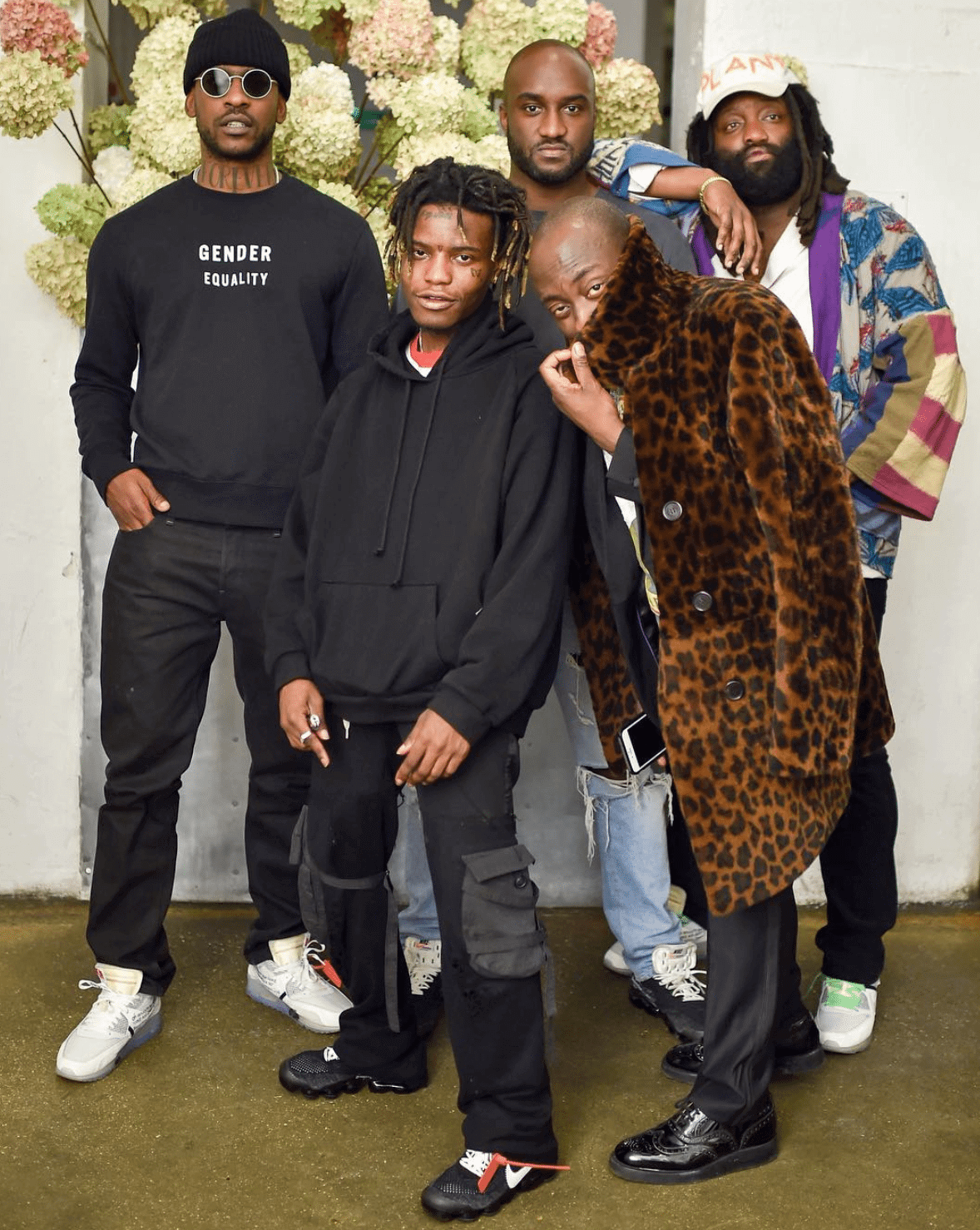 Skepta in Nike The 10 Air Max 90 & Ian Connor in the Nike The 10 Air Vapormax &Virgil Abloh in the Nike The 10 Air Vapormax & Tremaine Emory in the Nike The 10 Air Max 90