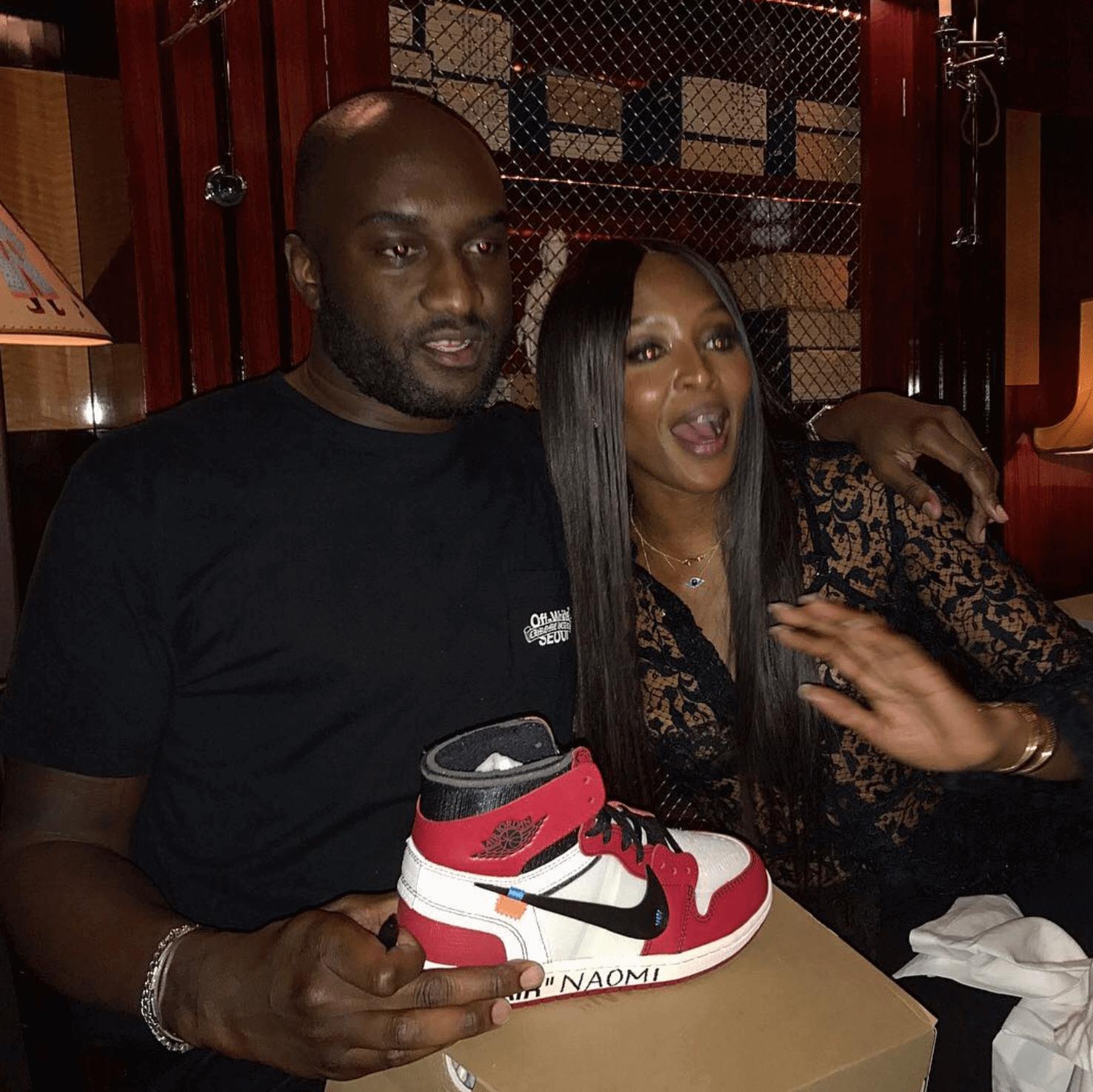 Virgil Abloh & Naomi Campbell with the The 10 Air Jordan 1