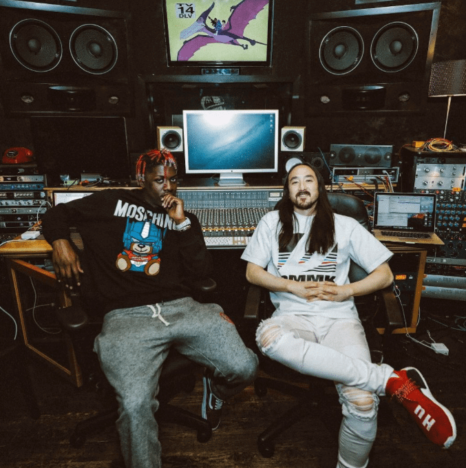Steve Aoki in the Pharrell Williams NMD Human Race & Lil Yachty in the Vans Old School