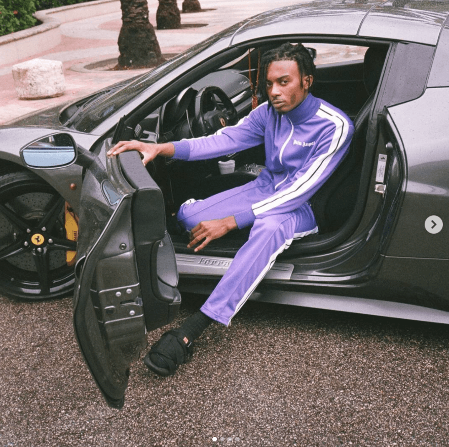 Playboi Carti in the Visvim Christo Sandal