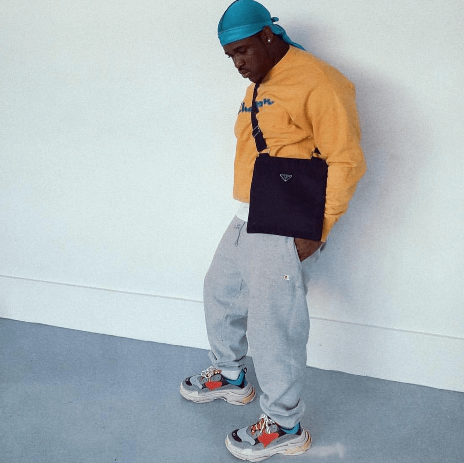 Asap Ferg in the Balenciaga Triple S sneakers