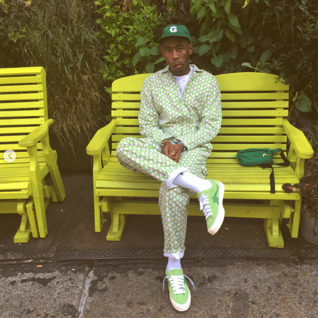 Tyler the Creator in the Golf Wang x Converse One Star