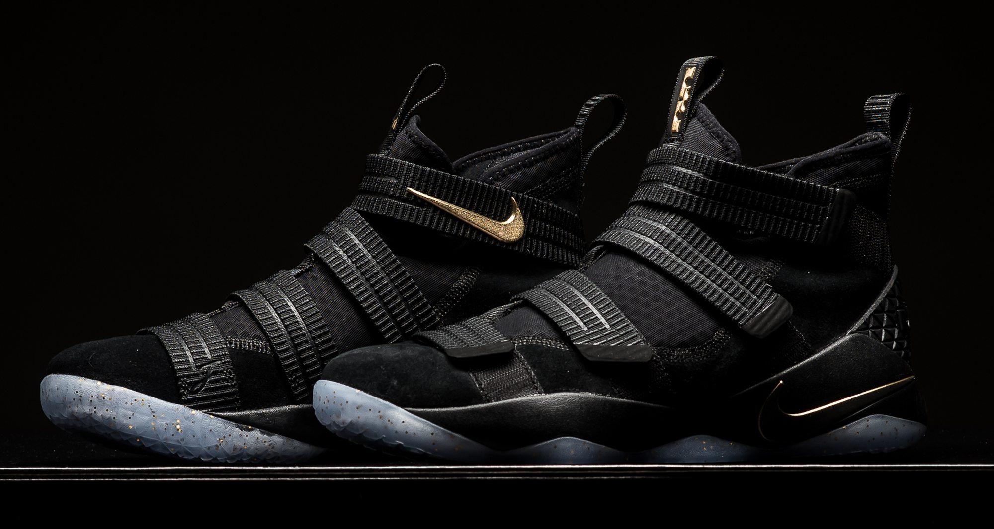 Nike LeBron Soldier 11 SFG Black/Metallic Gold ...