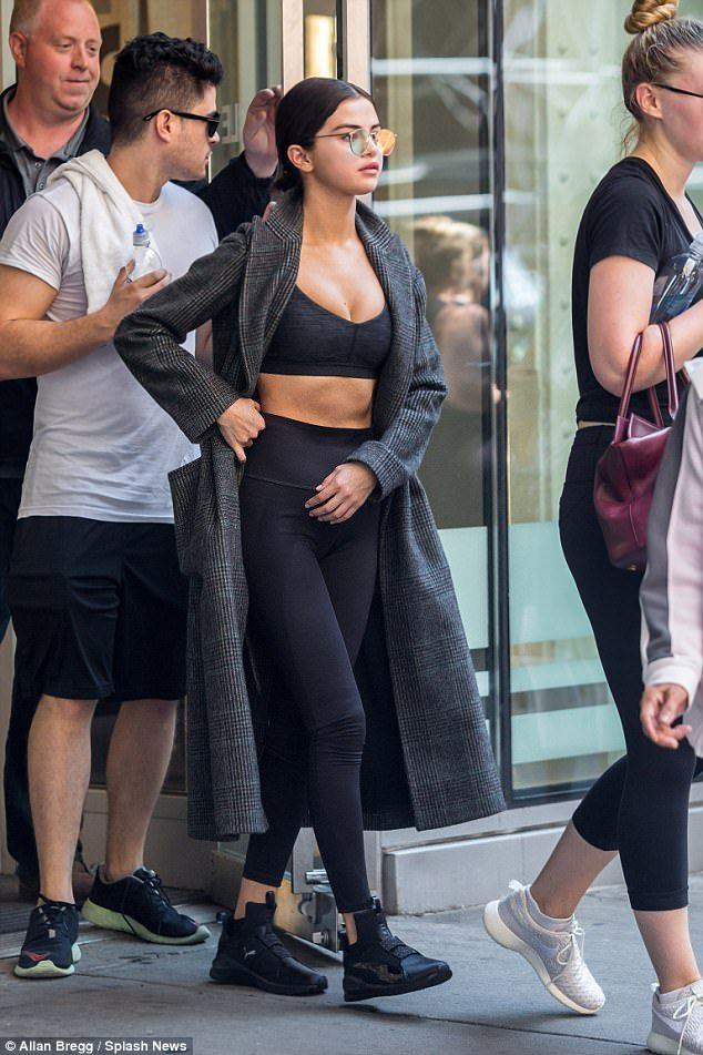 Selena Gomez in the Puma Fierce High Top Sneaker
