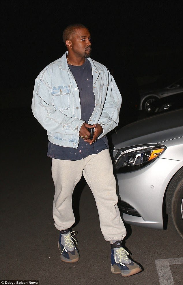 Kanye West in the Yeezy Sneakers