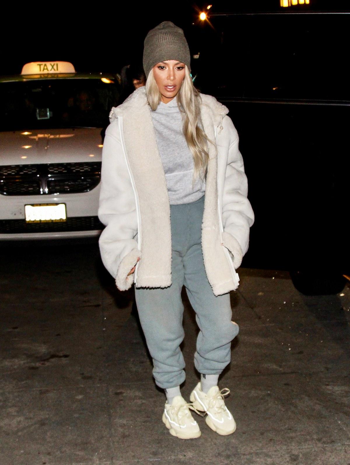 Kim Kardashian in the Yeezy Sneakers