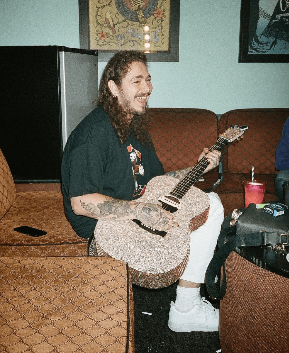 Post Malone in the Nike Air Force 1 Low