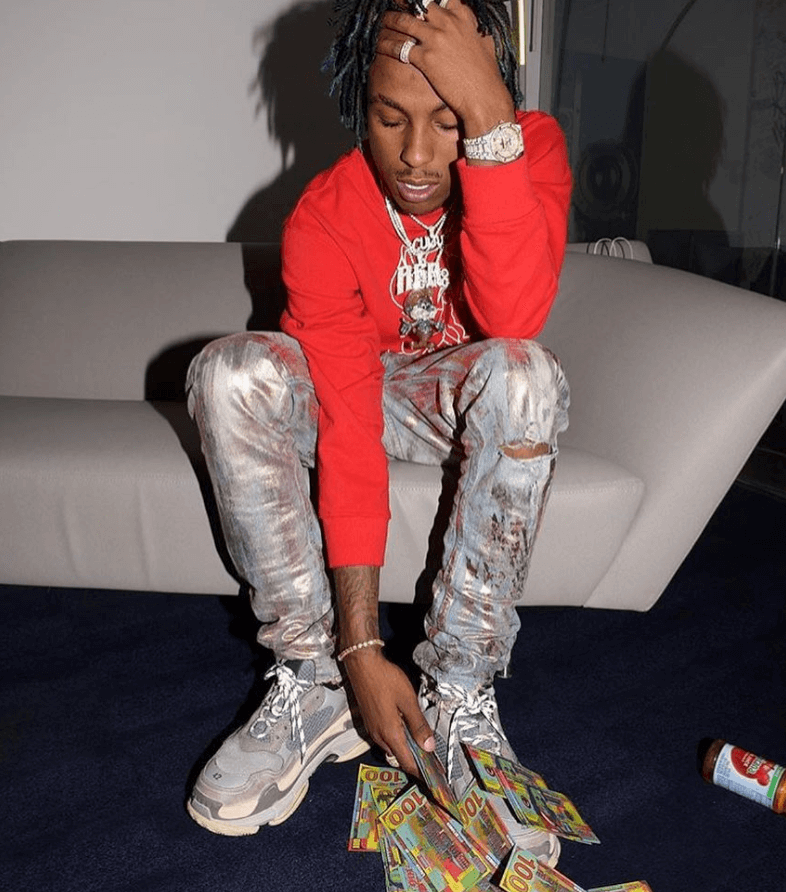 Rich the Kid in the Balenciaga Triple S Sneakers