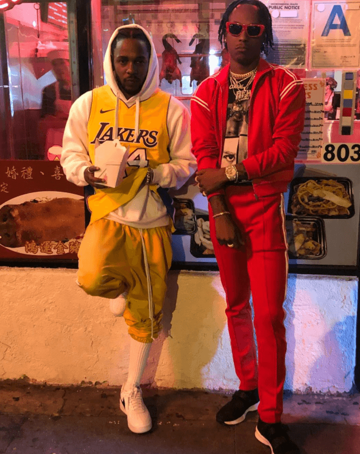 Kendrick Lamar in the Nike Air Force 1 Low & Rich the Kid in the Dior Sneakers