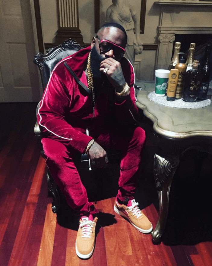 Rick Ross in the Nike Air Force 1 Low