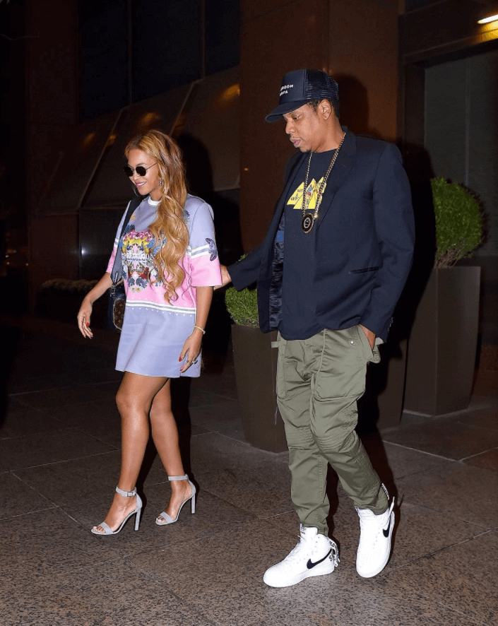 Jay Z in the Supreme x Air Force 1 High