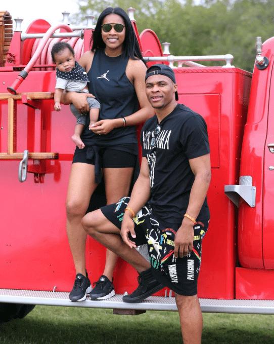 Nina Westbrook in the Nike Air Huarache & Russell Westbrook in the Vans SK8 Hi